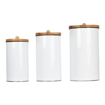 BECKETT CANISTERS, SET OF 3