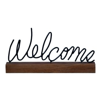 WELCOME WIRE WORD BLOCK