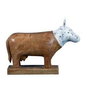 CEDAR COW FIGURE