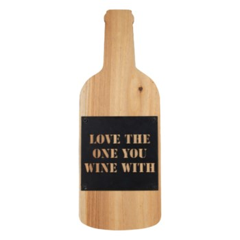 LOVE THE ONE YOU WINE WITH WALL ART