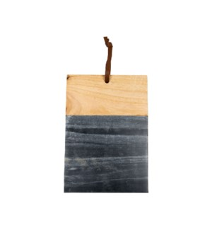 BLACK MARBLE WOOD SQUARE CUTTING BOARD LARGE