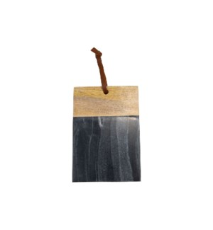 BLACK MARBLE WOOD SQUARE CUTTING BOARD SMALL