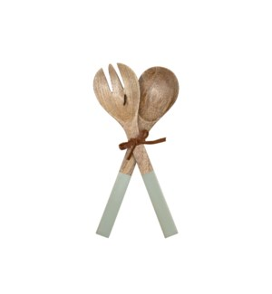 SAGE SERVING UTENSILS, SET OF 2