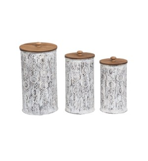 ARIANA NESTED CANISTERS, SET OF 3
