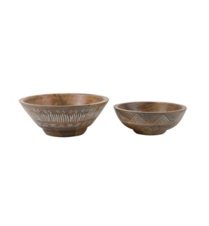 NIKO SERVING BOWLS, SET OF 2