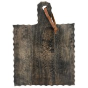 CARVED CUTTING BOARD SMALL BLACK