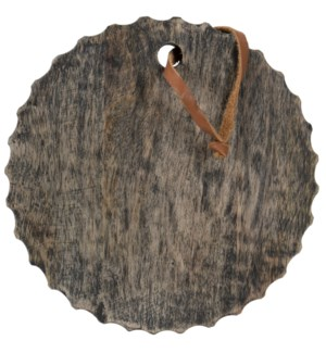 CARVED ROUND BOARD BLACK