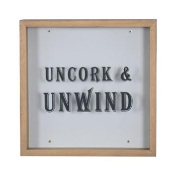 UNCORK & UNWIND SHADOW BOX