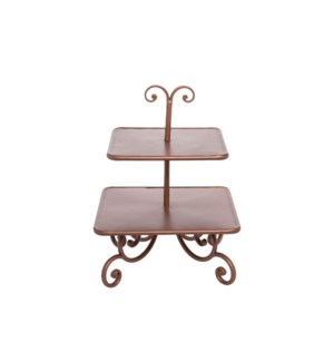 COPPER SCROLL TIERED SERVER