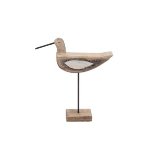 WOODEN TABLETOP BIRD ON STAND