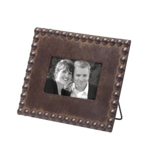 4X6 BEADED PHOTO FRAME NATURAL