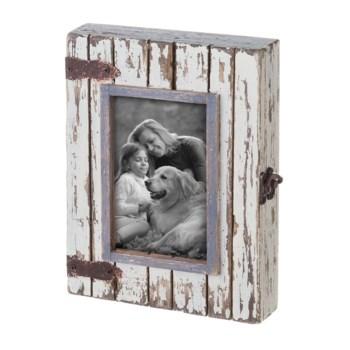 4X6 RUSTIC WOOD BOX PHOTO FRAME WHITE