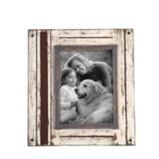5X7 RUSTIC WOOD PHOTO FRAME WHITE