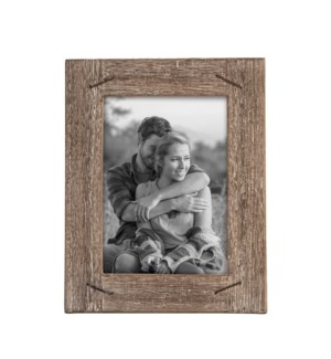 5X7 WEATHERED WOOD FRAME WITH NAIL ACCENTS