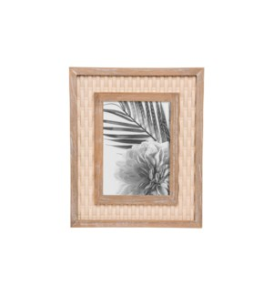 5X7 WOOD WOVEN PHOTO FRAME
