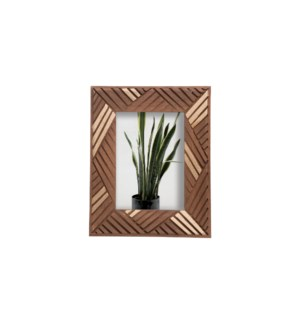 5X7 LUANA CARVED WOOD PHOTO FRAME