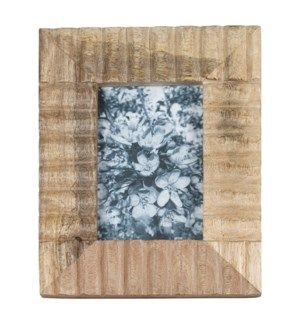4X6 CARVED WOOD PHOTO FRAME