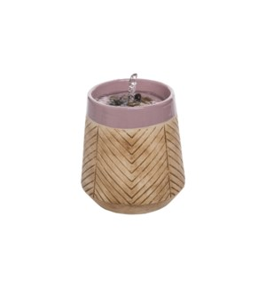 LILAC HERRINGBONE DESKTOP FOUNTAIN