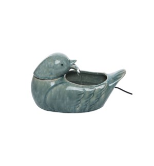 VERDIGRIS BIRD FOUNTAIN