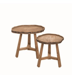 LIVE EDGE ACCENT TABLES, SET OF 2