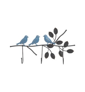 3 HOOK BIRD BRANCH WALL HANGER