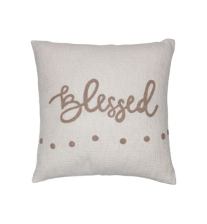 18X18 HAND WOVEN BLESSED PILLOW