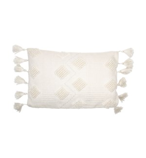 14X22 HAND WOVEN DIAMOND PILLOW