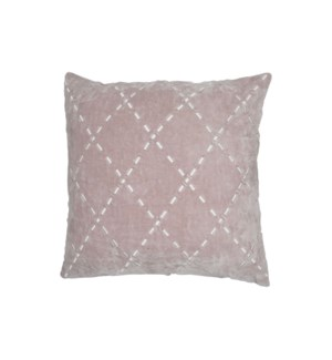 20X20 HAND WOVEN ROSE PILLOW