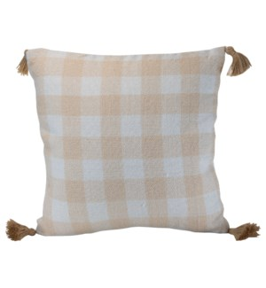 20X20 HAND WOVEN BENNET PILLOW CREAM