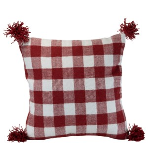 20X20 HAND WOVEN BENNET PILLOW RED