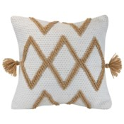 18X18 HAND WOVEN COLE PILLOW BROWN