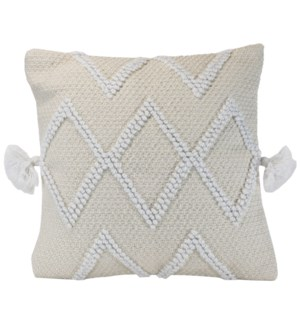 18X18 HAND WOVEN COLE PILLOW CREAM