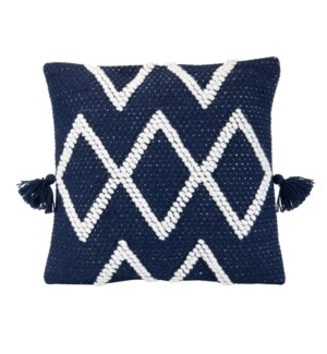 18X18 HAND WOVEN COLE PILLOW NAVY