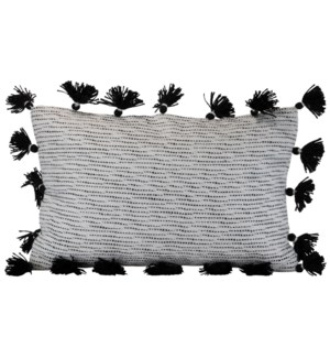 14X22 HAND WOVEN ALLISON PILLOW BLACK