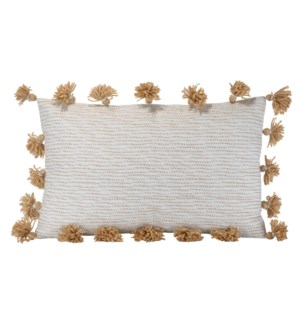 14X22 HAND WOVEN ALLISON PILLOW TAN