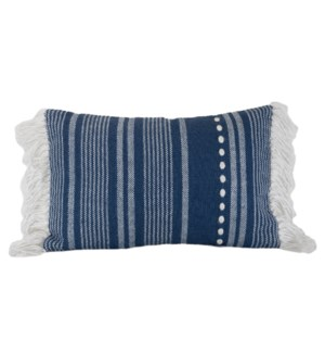 14X22 HAND WOVEN MICKEY PILLOW BLUE