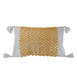 14X22 HAND WOVEN POPPY PILLOW YELLOW