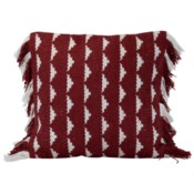 18X18 HAND WOVEN BLAISE PILLOW RED