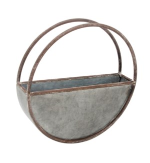 ROUND METAL FLOWER POT SMALL