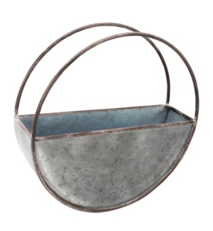 ROUND METAL FLOWER POT LARGE