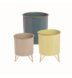 HAIRPIN NESTED BINS, SET OF 3