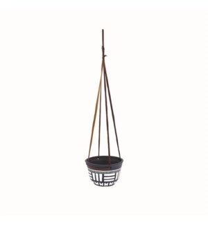 HANGING TERRACOTTA PLANTER BLACK