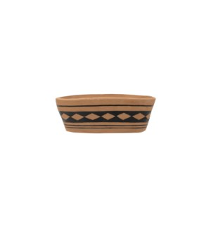 BLACK OVAL CLAY PLANTER