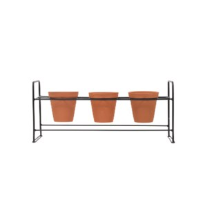 RACK WITH THREE POTS, SET OF 4