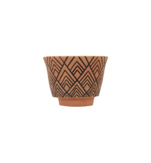 FOOTED GEO TERRACOTTA PLANTER LARGE