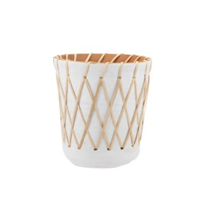 RATTAN WOVEN PLANTER LARGE
