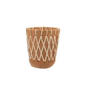 RATTAN WOVEN PLANTER MEDIUM