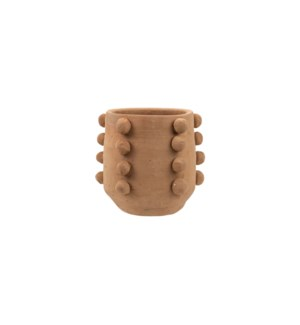 BEADED TERRACOTTA PLANTER SMALL