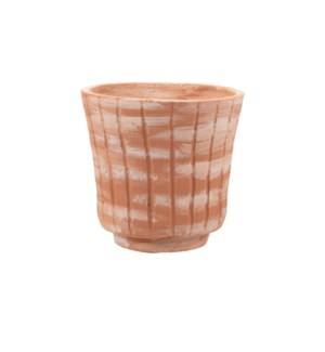 WHITE WASHED TERRACOTTA PLANTER LARGE