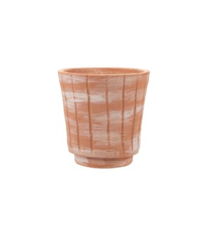 WHITE WASHED TERRACOTTA PLANTER SMALL